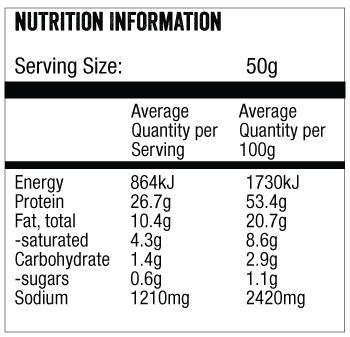 biltong chips nutritional info